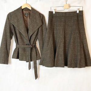 H&M | Wool Blend Midi Flare Skirt Set